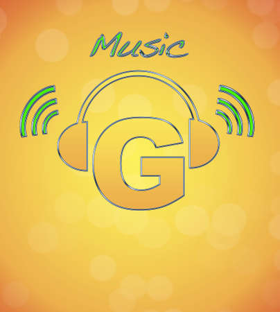 G, music logo. photo