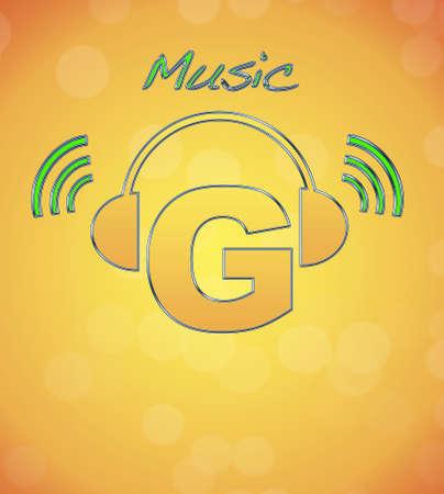 G, music logo. Stock Photo - 13194842