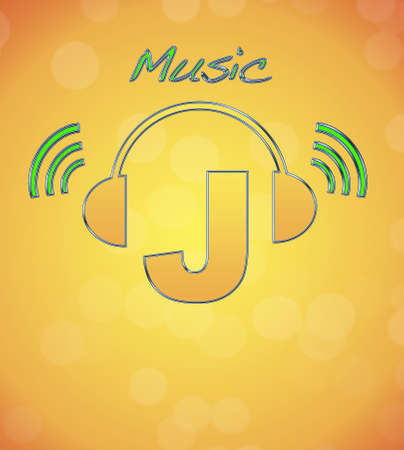 J, music logo. photo