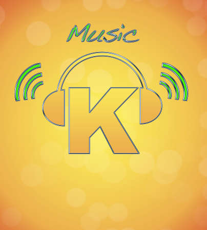 K, music logo. photo