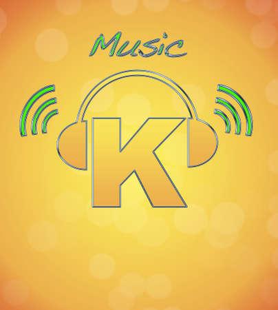 K, music logo. photo
