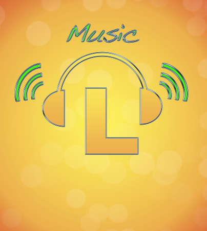 L, music logo. photo