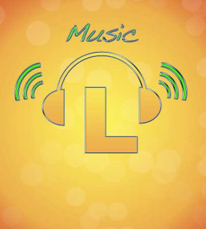 L, music logo. Stock Photo - 13194871