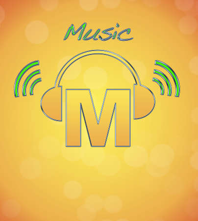 M, music logo. photo