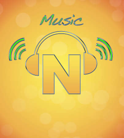 N, music logo. photo