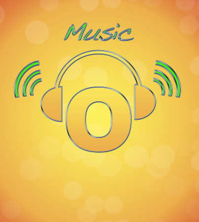 O, music logo. photo