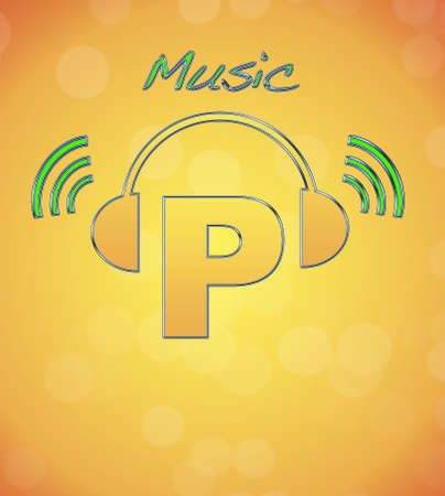 P, music logo. Stock Photo - 13194879