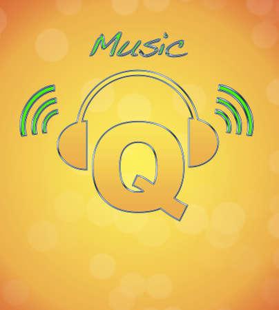 Q, music logo. photo