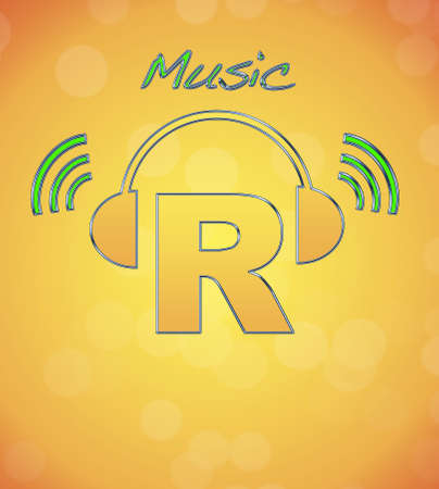 R, music logo. photo