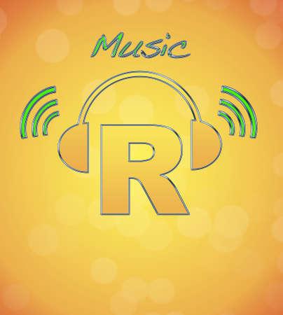 R, music logo. Stock Photo - 13194824