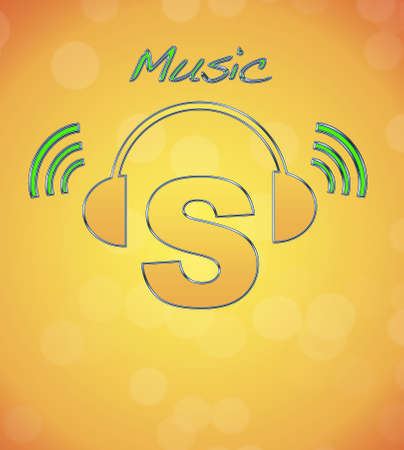 S, music logo. photo