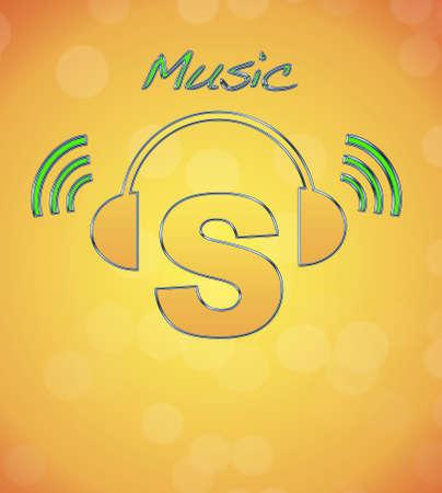S, music logo. Stock Photo - 13194845