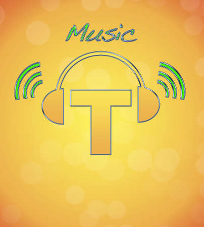 T, music logo. photo