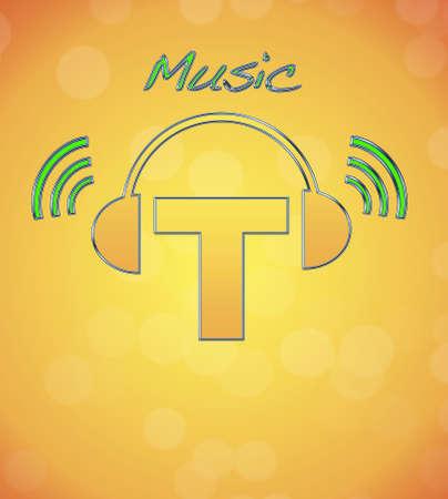 T, music logo. Stock Photo - 13194873