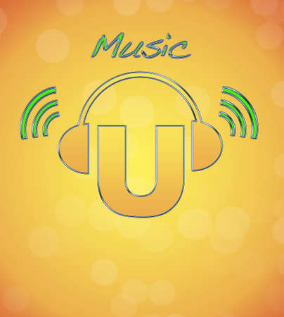 U, music logo. Stock Photo - 13194883