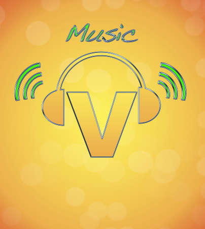 V, music logo. photo