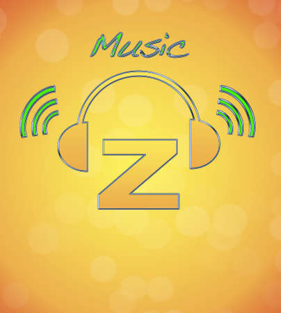 Z, music logo. photo