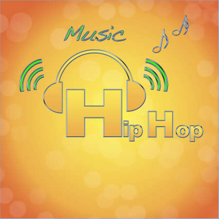 Hip hop, music logo. photo