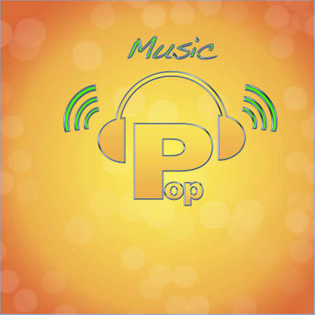 Pop, music logo. photo
