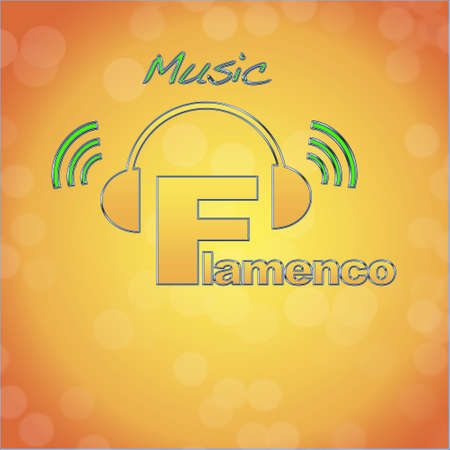 Flamenco, music logo. photo