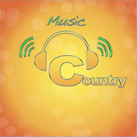 country music: Land-, Musik-Logo. Lizenzfreie Bilder