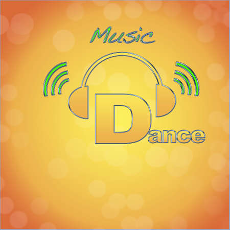 Dance, music logo. photo