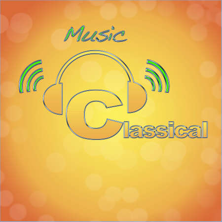 Classical, music logo. photo