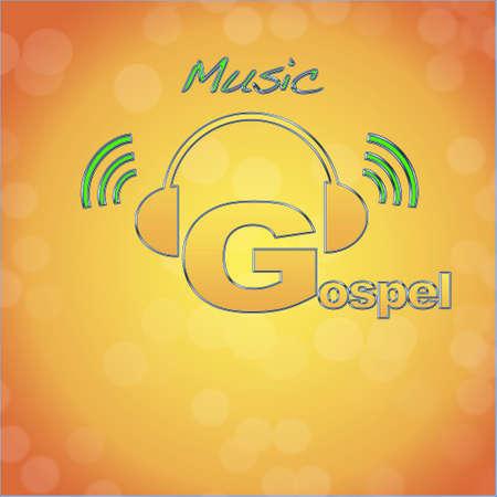Gospel, music logo. photo