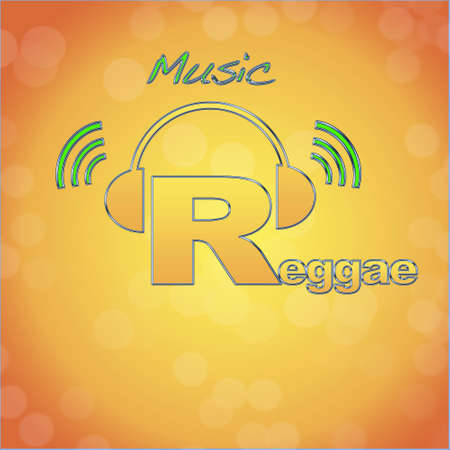 Reggae, music logo. photo