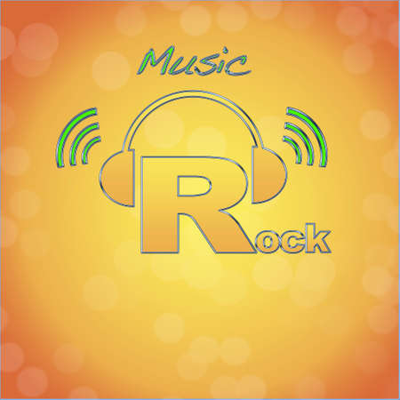 Rock, music logo. photo