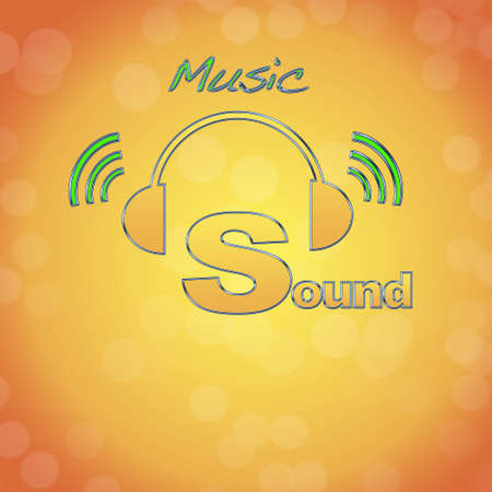 Sound, music logo. photo