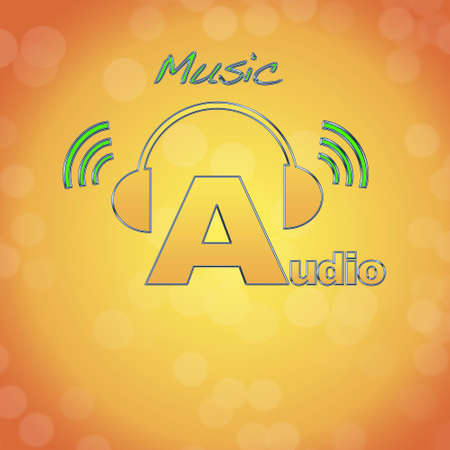 Audio, music logo. photo