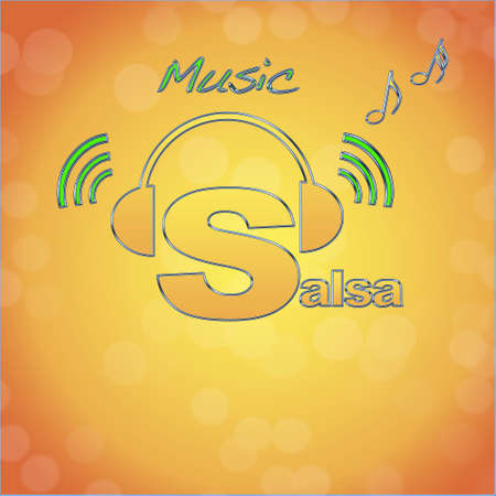 Salsa, music logo. photo