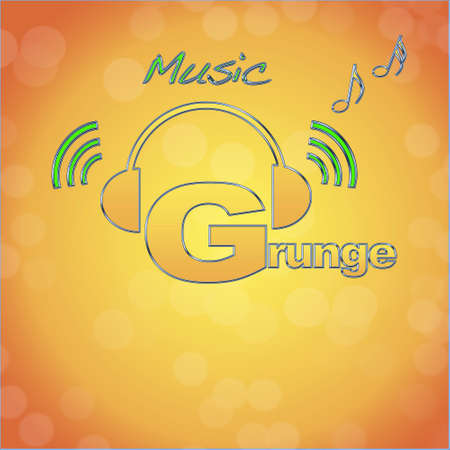 Grunge, music logo. photo