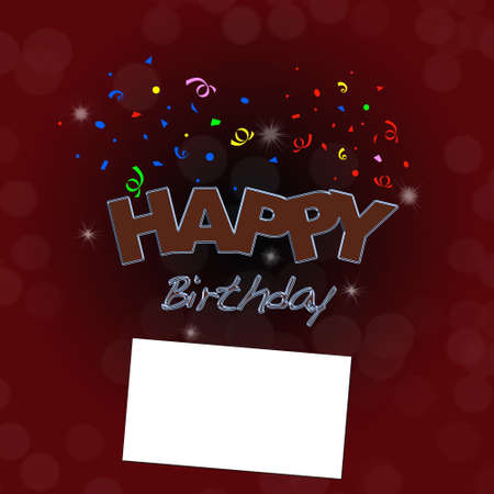 Happy birthday with card. Stock Photo - 13224101