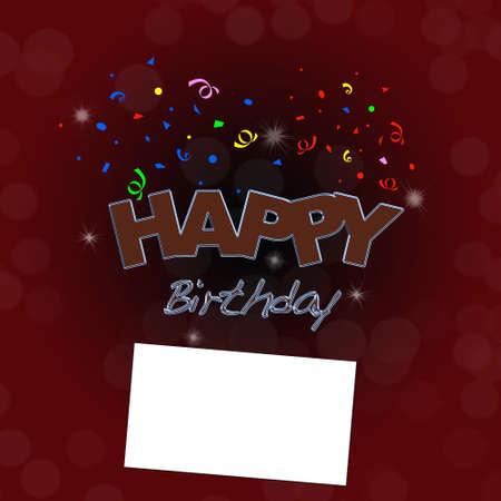 Happy birthday with card. Stock Photo - 13224101