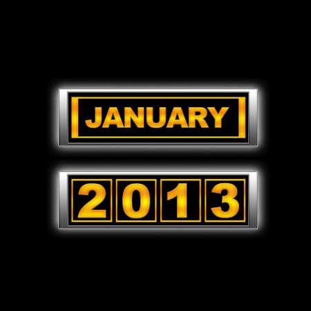 Calendar 2013, January. Stock Photo - 13224086