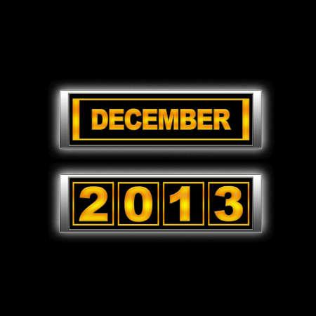Calendar 2013, December. Stock Photo - 13224096