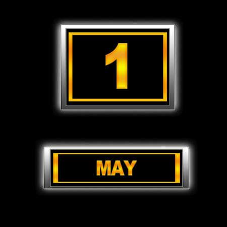 Illustration with Calendar, May 1. illustration