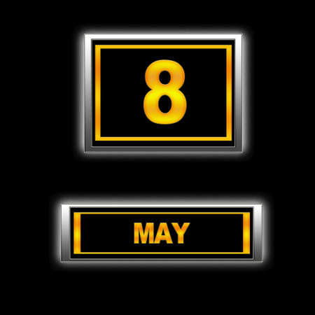 Illustration with Calendar, May 8. Stock Illustration - 13240861
