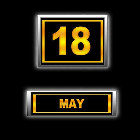 Illustration with Calendar, May 18  illustration