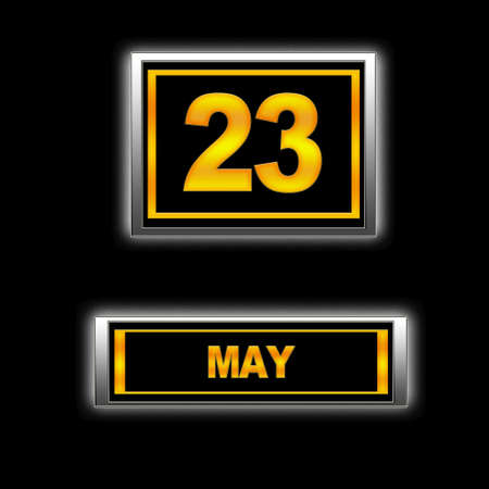 23: Illustration with Calendar, May 23