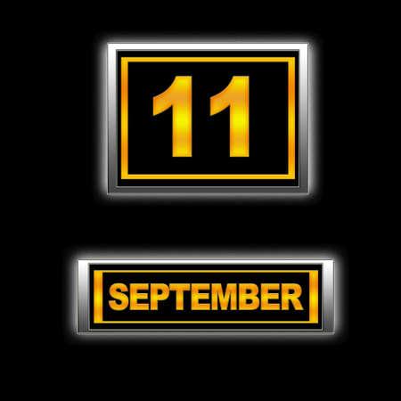 Illustration with Calendar, September 11.