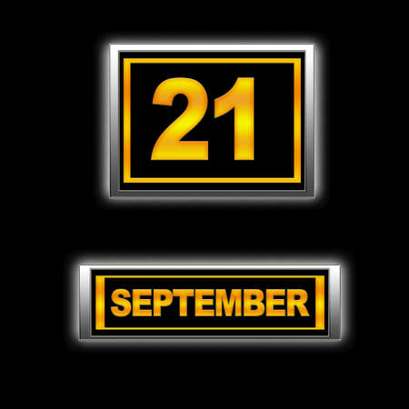 21: Illustration with Calendar, September 21.