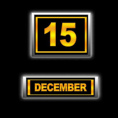 Illustration with Calendar, December 15. Stock Illustration - 13268301