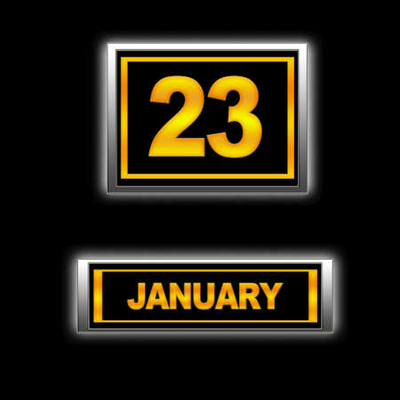 23: Illustration with Calendar, January 23