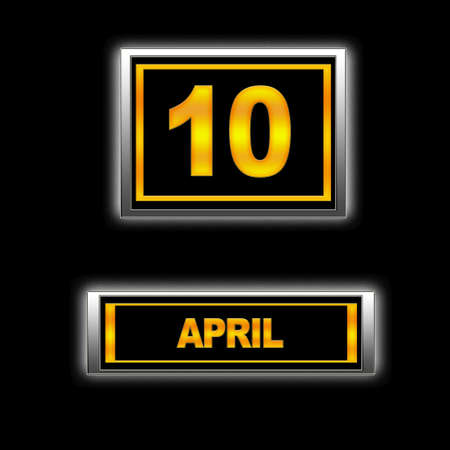 Illustration with Calendar, April   10  illustration