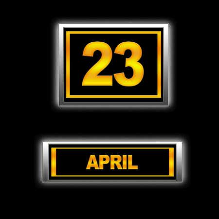 23: Illustration with Calendar, April   23