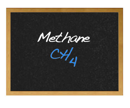 Isolated blackboard with Methane. photo