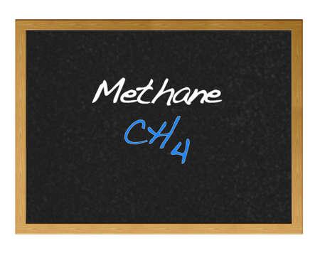 methane: Isolated blackboard with Methane. Stock Photo